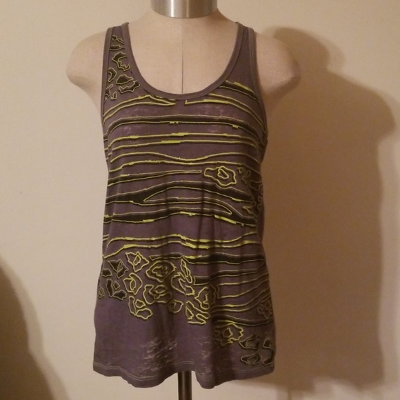 Sweet Madness Tops - Gray Loose Fit Razor Back Tank Size S Juniors